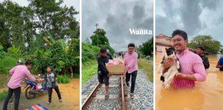 Tersangkut Dalam Banjir, Susu Pampers Anak Tinggal Sikit, Jadi Asbab Bantu Orang Lain