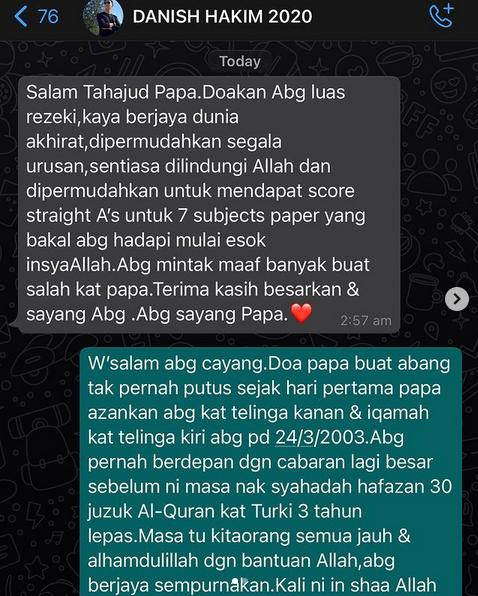 'Doa Papa Tak Pernah Putus' Norman Hakim Mohon Doakan Anak & Calon Peperiksaan SPM