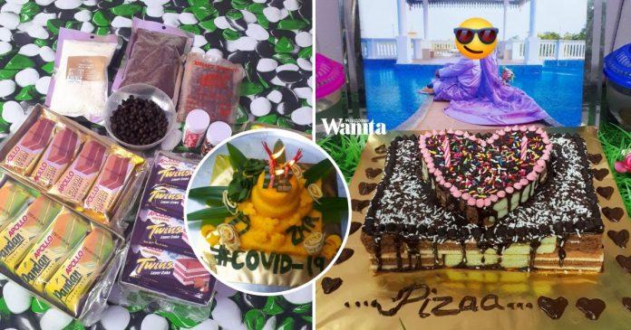 Suami Buat Sendiri Kek Apollo Kedai RM2, Surprise Hari Lahir Isteri