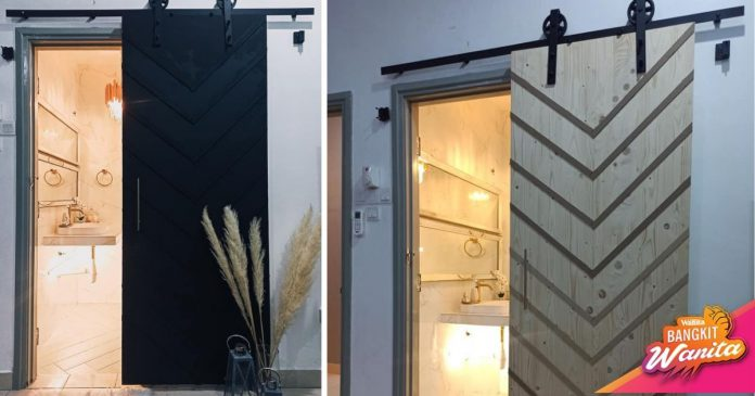 DIY Sliding 'Barn Door' Bilik Air, Bajet RM400 Barang Beli Online