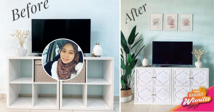 Deko Rak TV Bajet Minimum, DIY Tak Guna Drill Pun Jadi