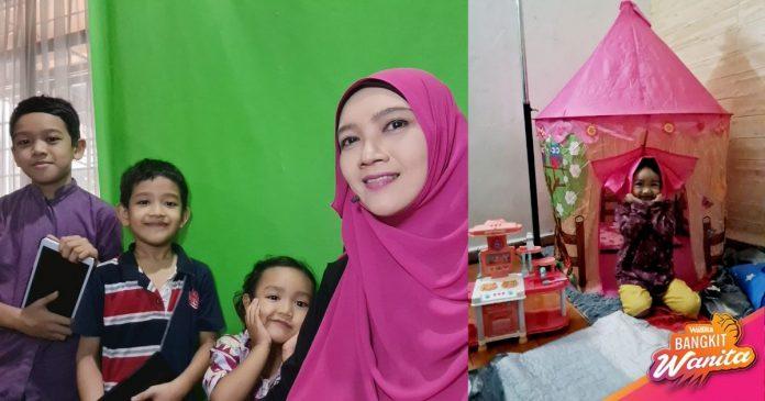 Asyik Dengan Gajet, Boleh Rosak Mata Anak, Solusinya Ibu Beli Khemah Bawah RM10