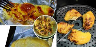 durian-bakar-dalam-air-fryer